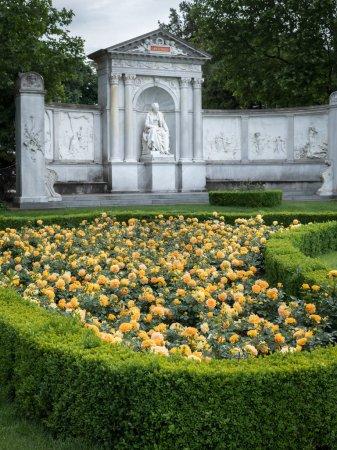Monument of the writer Franz Grillparzer in Volksgarten Vienna (Austria)