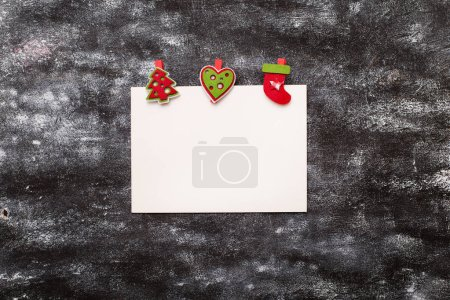 Photo for Christmas holiday card. Greeting poster. Copy space - Royalty Free Image
