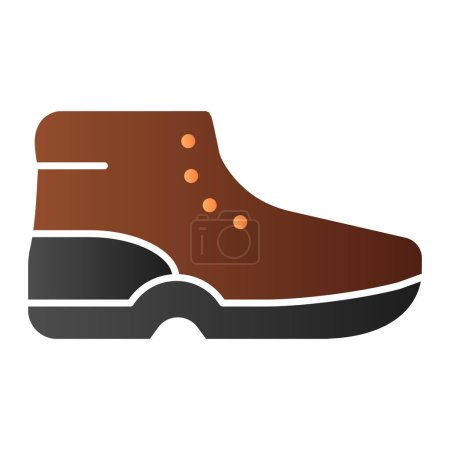 Illustration for Boots flat icon. Sport shoes color icons in trendy flat style. Mountain footwear gradient style design, designed for web and app. Eps 10 - Royalty Free Image