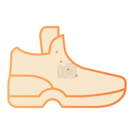 Illustration for Sneakers flat icon. Sport shoe orange icons in trendy flat style. Footwear gradient style design, designed for web and app. Eps 10 - Royalty Free Image