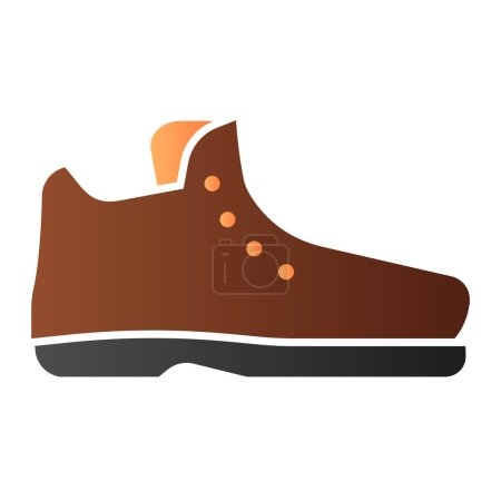 Illustration for Male boots flat icon. Demi-season boots color icons in trendy flat style. Footwear gradient style design, designed for web and app. Eps 10 - Royalty Free Image