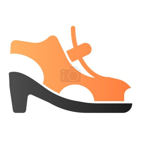 Illustration for Woman shoes with clasp flat icon. High-heeled sandals color icons in trendy flat style. Footwear gradient style design, designed for web and app. Eps 10 - Royalty Free Image