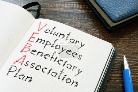 Régime de l'Association des Bénéficiaires Employés Volontaires VEBA est montré sur la photo