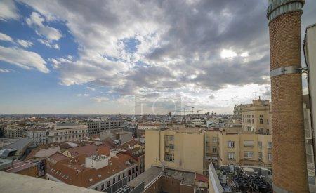 Landscape Madrid Spain cityscape above