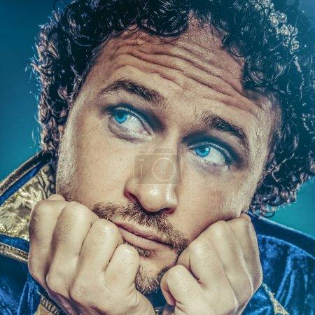Blue prince, nobility concept, royal fantasy