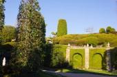 facades and building details of botanical garden at verbania italy lago maggiore on a warm sunny springtime morning