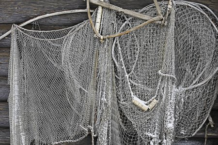 old fishing net texture, rustic background