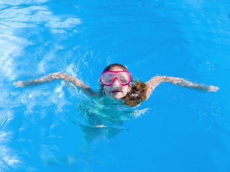 Photo for The young woman in the swimming pool.Water Joy - Royalty Free Image