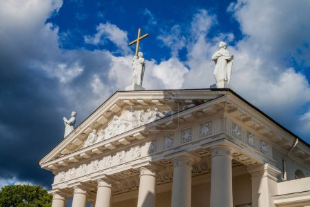 Cathedral Basilica Of St. Stanislaus And St. Vladislav On Cathedral Square in Vilnius, Lithuania.