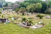 Cemetery in San Buenaventura village, Honduras