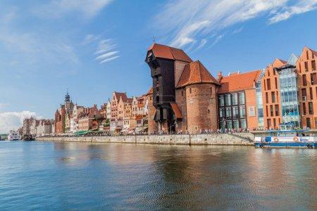 GDANSK, POLAND - SEPTEMBER 2, 2016: Riverside hous...