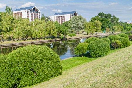 Photo pour Vue de la rivière Svislach à Minsk, Biélorussie - image libre de droit