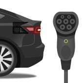 Charging plug Type 2 Mennekes and car with the same socket
