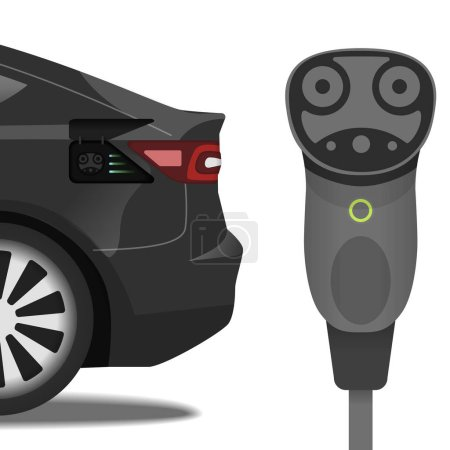 Electric car supercharging connector and car with the same socket.