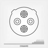 Electric Car charging plug CHAdeMO line icon Editable stroke