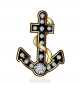 Anchor vessel isolated vector symbol