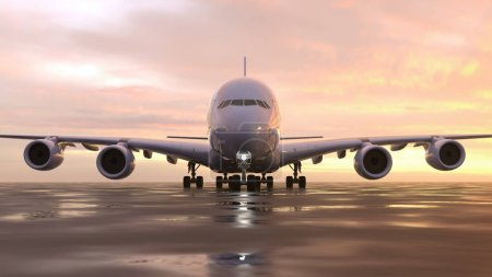 Photo for Airplane on the runway - Royalty Free Image
