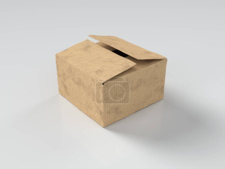 Photo for Cardboard box on white - Royalty Free Image
