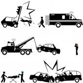 Tragic scenes of car accidents