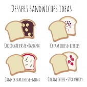Vector illustration with sweet sandwiches recipe good for your tasty projects enjoy!