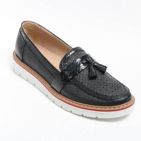 Women's demi-season shoes leather on white backgro...