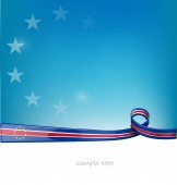 cape verde ribbon flag on blue sky background