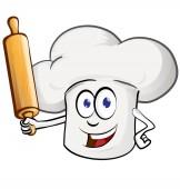 chef cartoon with rollin pin cartoon
