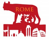 The Symbol Of Rome Capitoline Wolf with roman monument
