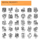 Rental Property Investing  Thin Line and Pixel Perfect Icons