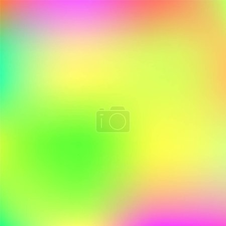 Illustration for Holographic Vector Background. Iridescent Foil. Glitch Hologram. Pastel neon rainbow. Ultraviolet metallic paper. Template for presentation. Cover to web design. Abstract colorful gradient. - Royalty Free Image