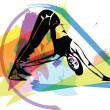 Fit young woman in sportswear vector illustration...