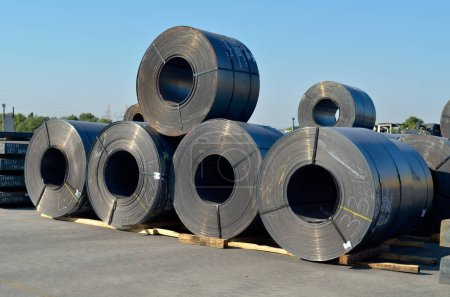 Photo for Rolls of steel sheet - Royalty Free Image