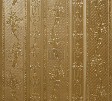 Photo for Beige ornate wallpaper on wall, vintage background - Royalty Free Image