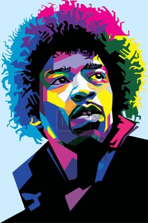 Jimi Hendrix Rock Music Vector