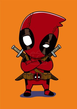 Deadpool child vector illustration