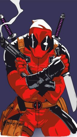 Deadpool knife weapon vector