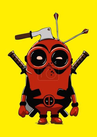 Deadpool Minion vector rad