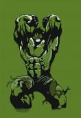 hulk evil vector green