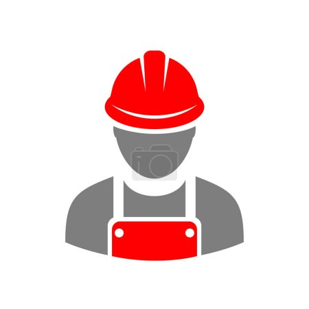 Laborer builder vector icon