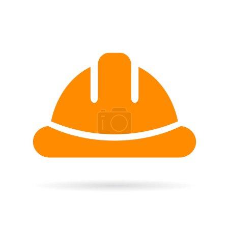 Yellow hard hat vector icon