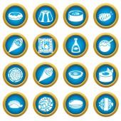 Japan food icons set simple style