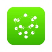 Glucose icon green vector
