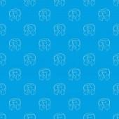 Earphones pattern vector seamless blue