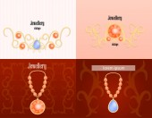 Jewellery banner concept set realistic style