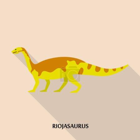 Illustration pour Icône de Riojasaurus. Illustration plate de l'icône vectorielle riojasaurus pour la conception web - image libre de droit