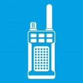 Portable handheld radio icon white