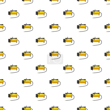 Illustration for Car air compressor pattern seamless repeat in cartoon style vector illustration - Royalty Free Image