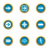 Turnout icons set flat style