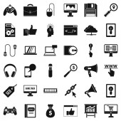 Web link icons set simple style