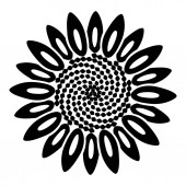 Spiral flower icon simple style